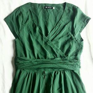 Emerald green wrap maxi dress